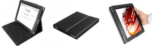 iPad-Case mit Bluetooth-Tastatur