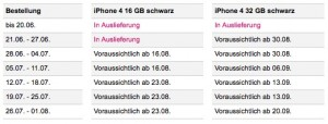 iPhone: Telekom DE zur iPhone 4 Liefersituation