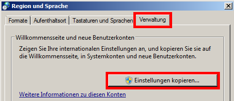 Windows 7 - Tastaturlayout für alle User ändern