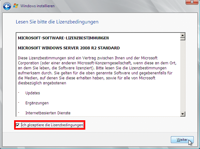 Windows Server 2008 R2 - Lizenzbedingungen