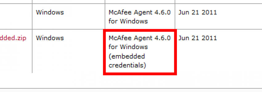 McAfee Agent download