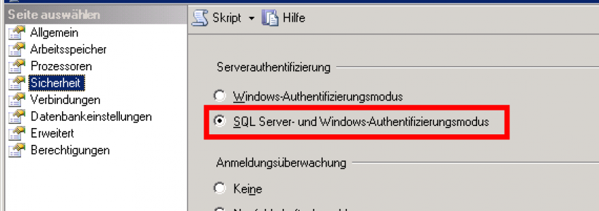 SQL Server - SQL Authentification