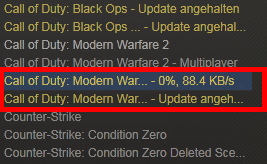 CoD: MW3 Installation per Steam