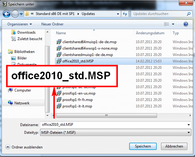 Office 2010 - Save as...