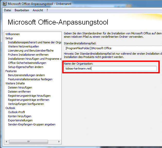 Office 2010 - Speicherort