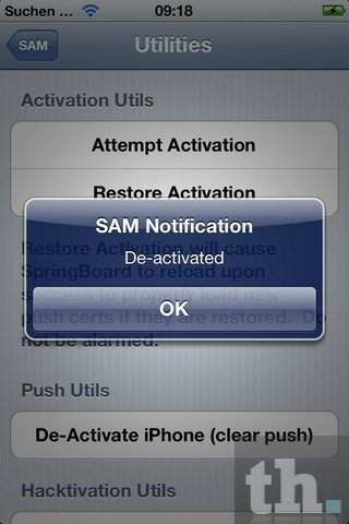 iPhone Deactivated SAM