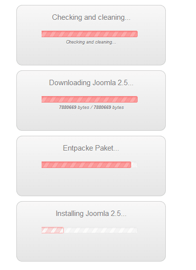"Joomla: jUpgrade hängt bei ""Checking and Cleaning"""