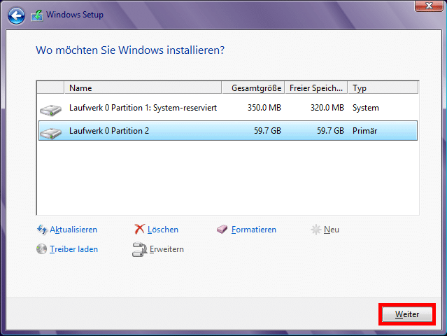 windows_8_setup_laufwerkoptionen_fertig