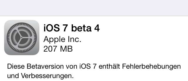iOS 7 Beta4 ist da – Downloadlinks