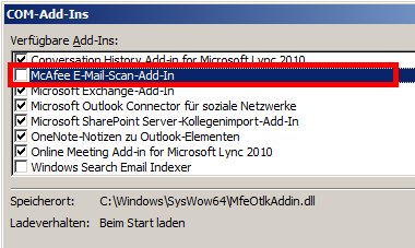 Outlook 2010 - Com-Add-Ins