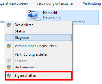 Windows 8/7/VISTA – Mit Hamachi kein Internetzugriff