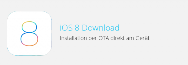 iOS 8 Download – Installation per OTA (Over the Air)
